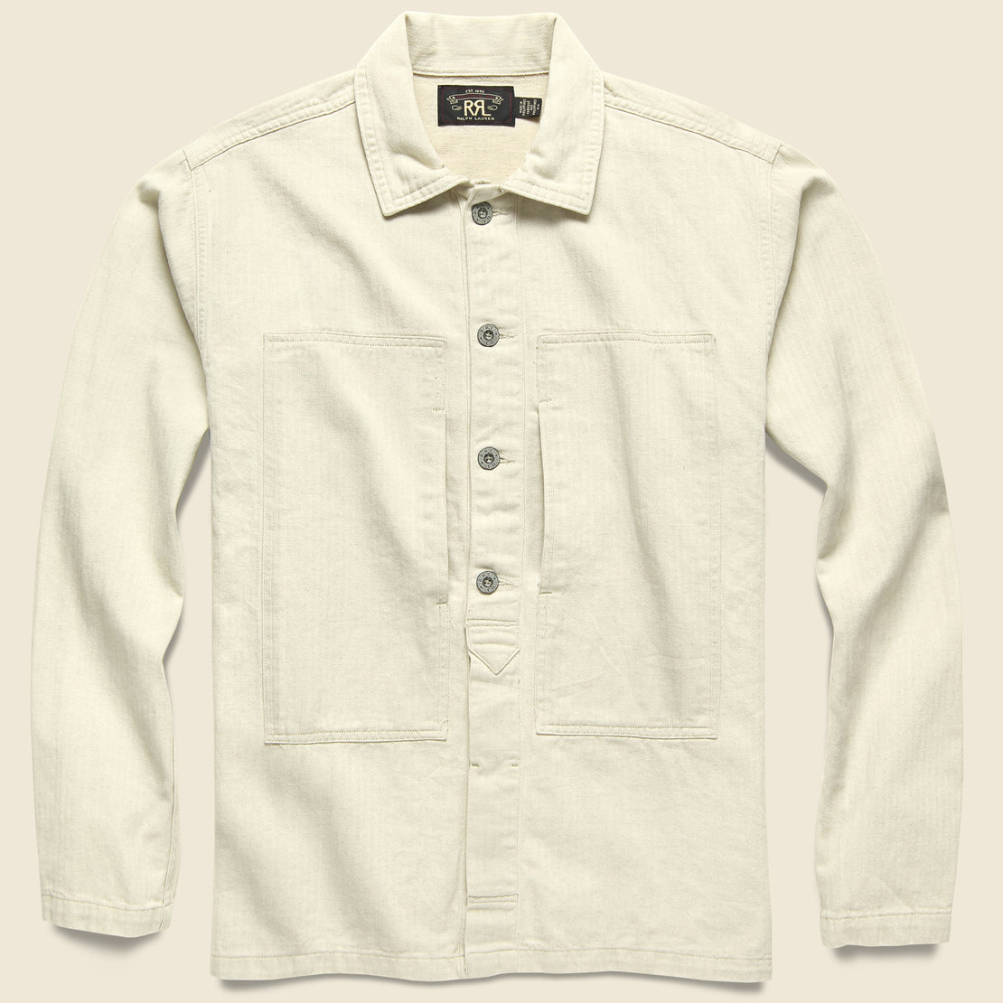 RRL Admiral CPO Shirt - Natural