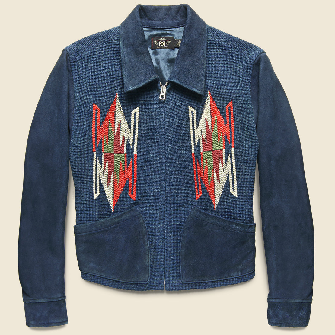 RRL Chimayo Suede Ranch Jacket - Indigo
