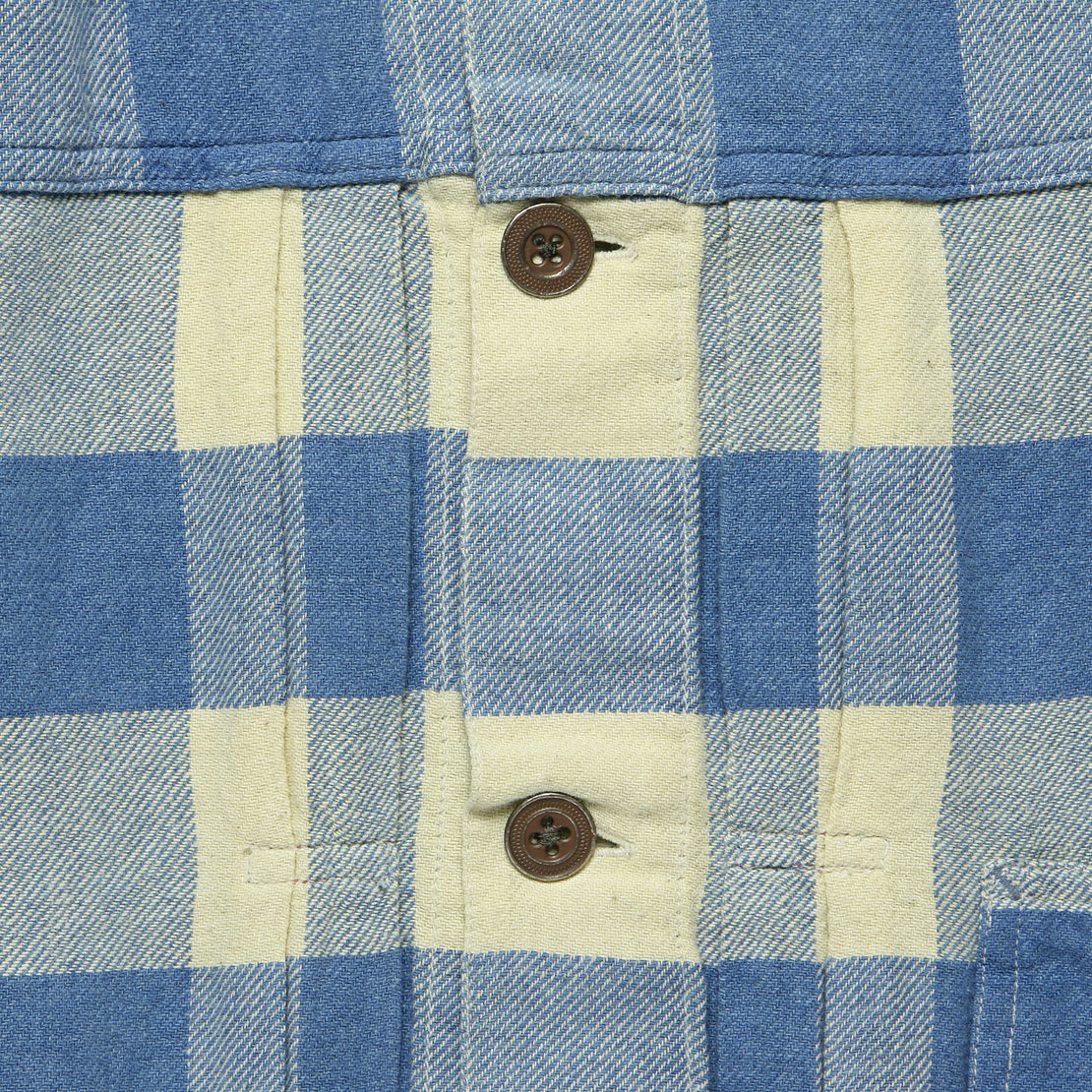 Buffalo Plaid Casey Overshirt - Indigo/Cream