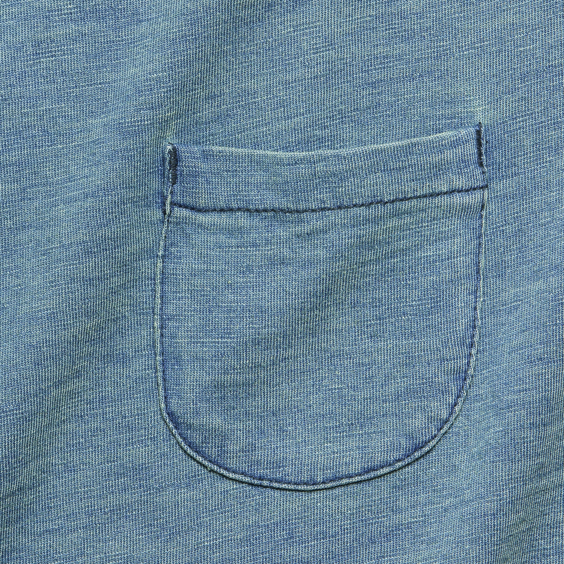 Slub Pocket Tee - Washed Indigo