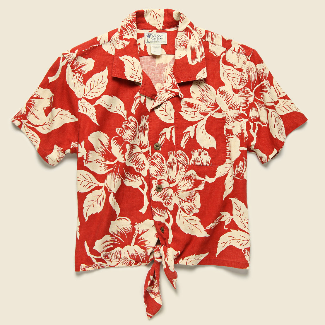 RRL Laura Aloha Shirt - Red/Cream