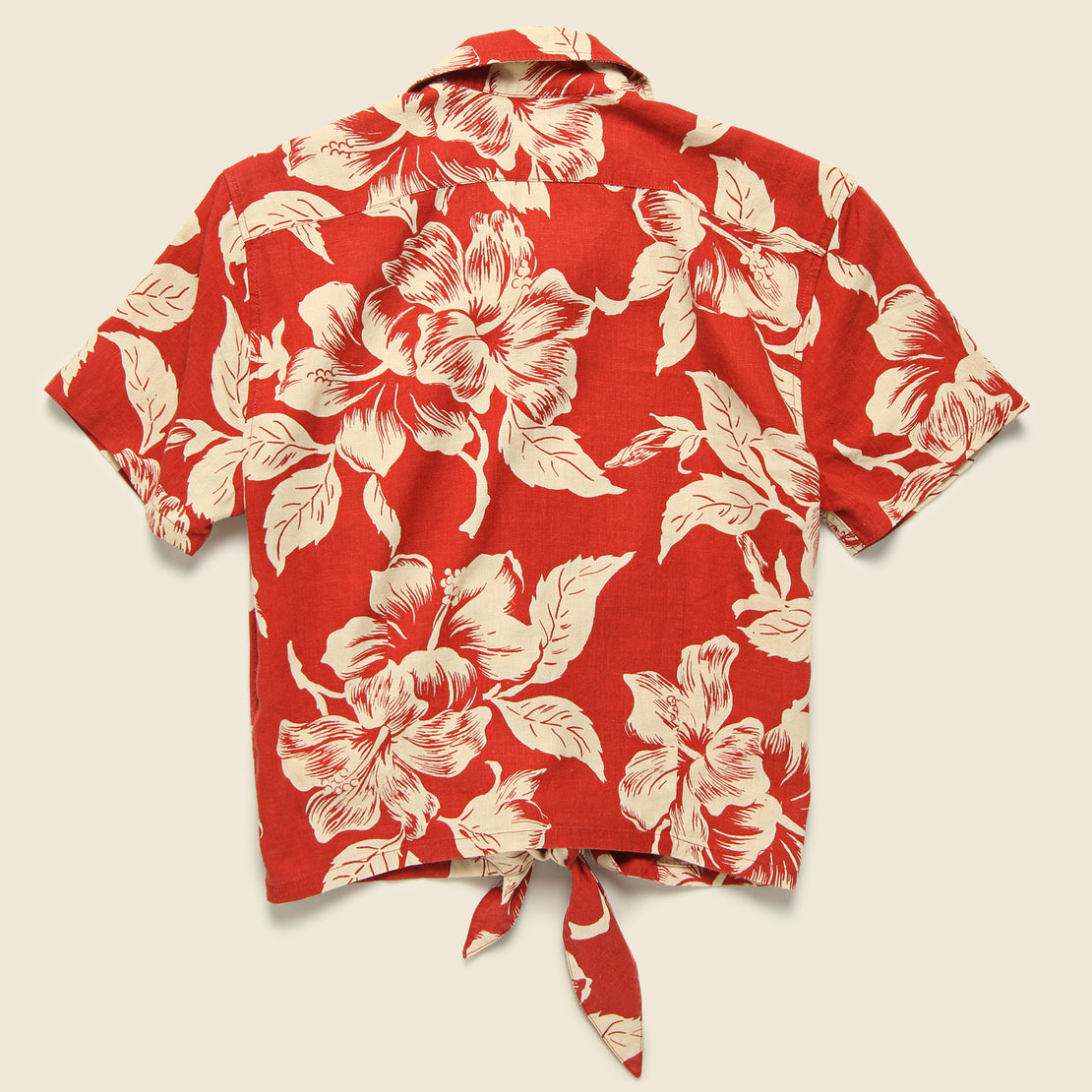 Laura Aloha Shirt - Red/Cream