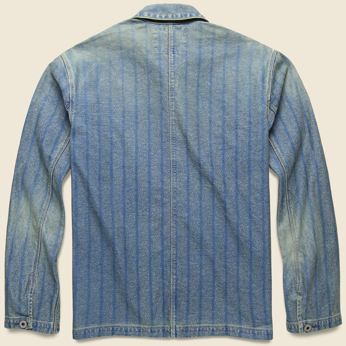 Striped Indigo Twill Jacket - Indigo