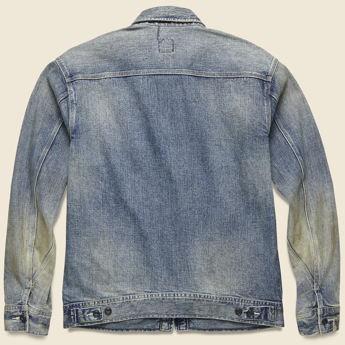 Denim Zip-Front Jacket - Malverne Wash