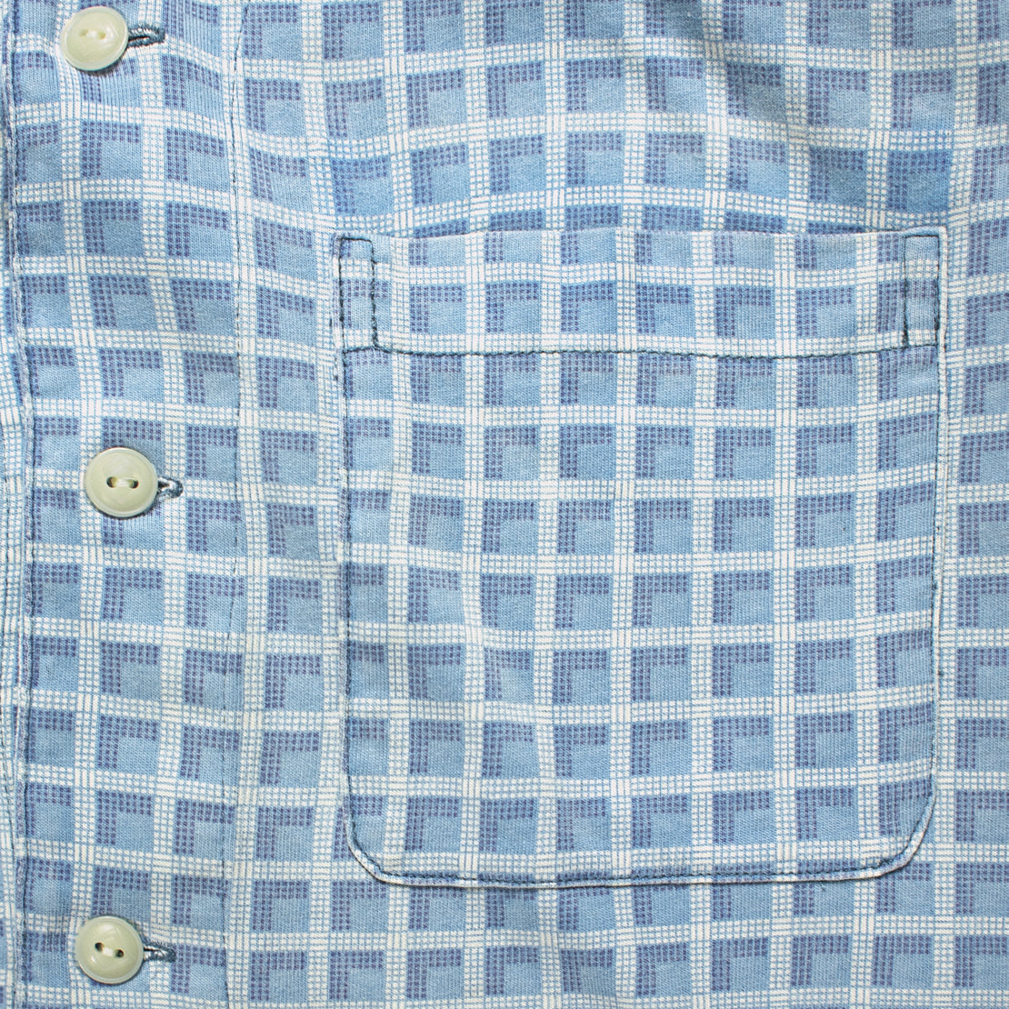 Plaid-Print Jersey Camp Shirt - Indigo
