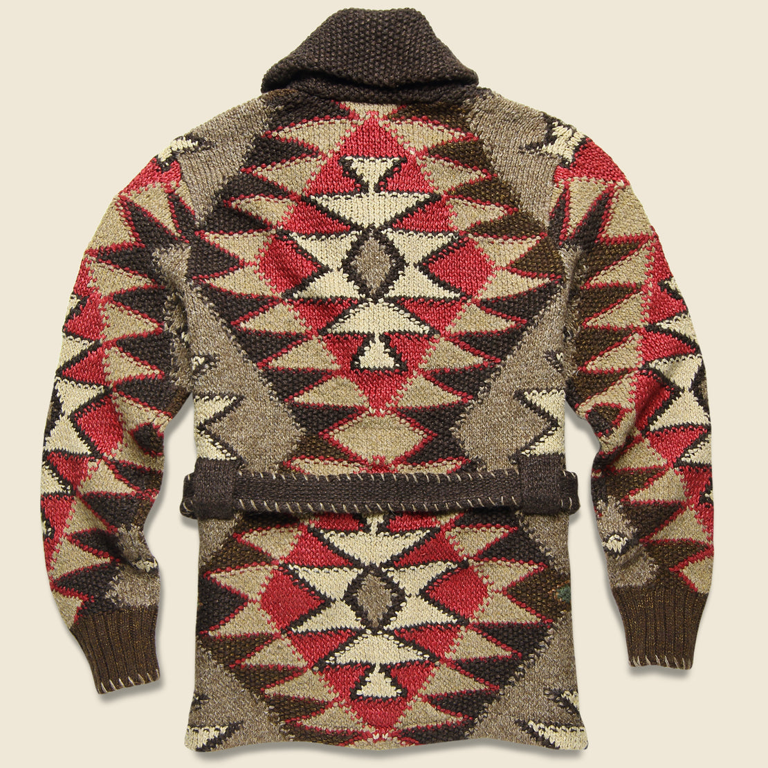 Hand-Knit Ranch Cardigan - Brown