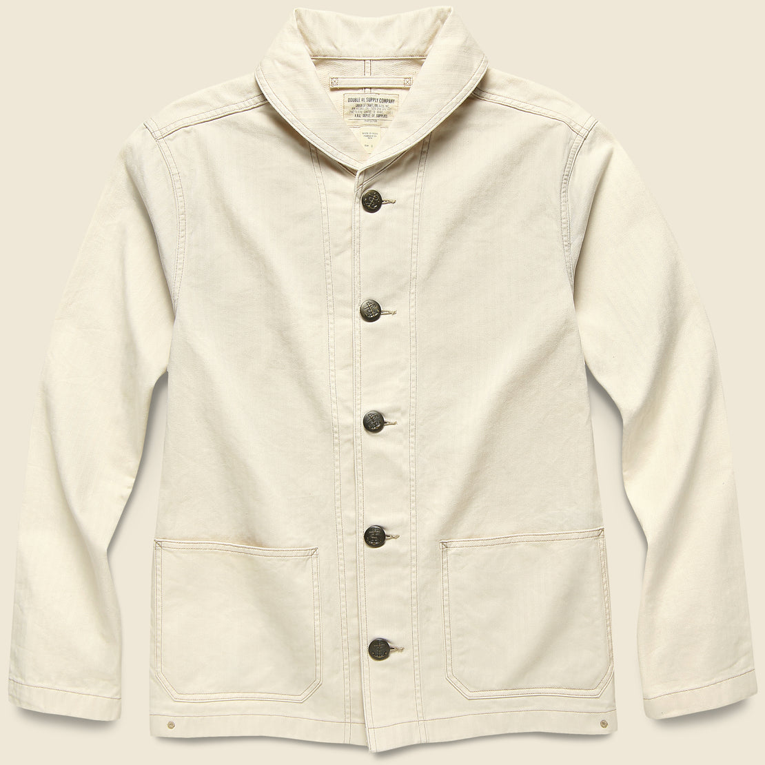 RRL Herringbone Twill Jacket - Natural Seed