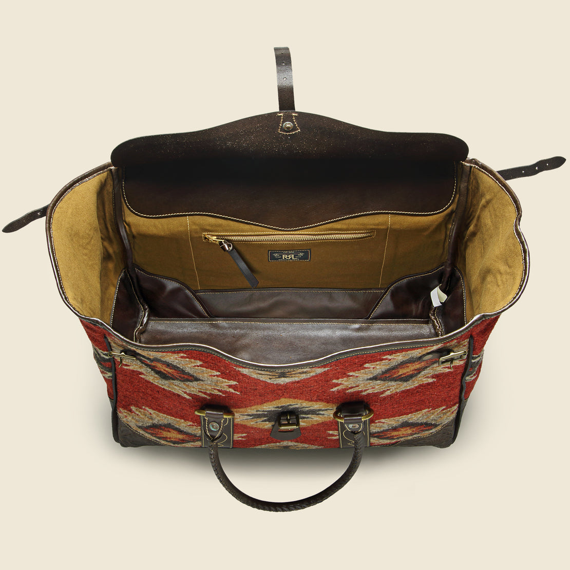 Handwoven Pecos Leather Duffle