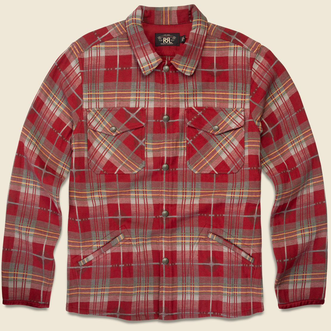 RRL Jacquard Workshirt - Red