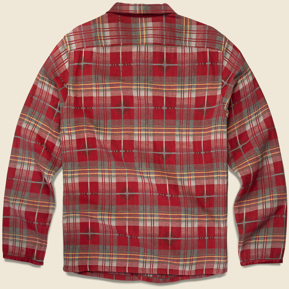 Jacquard Workshirt - Red