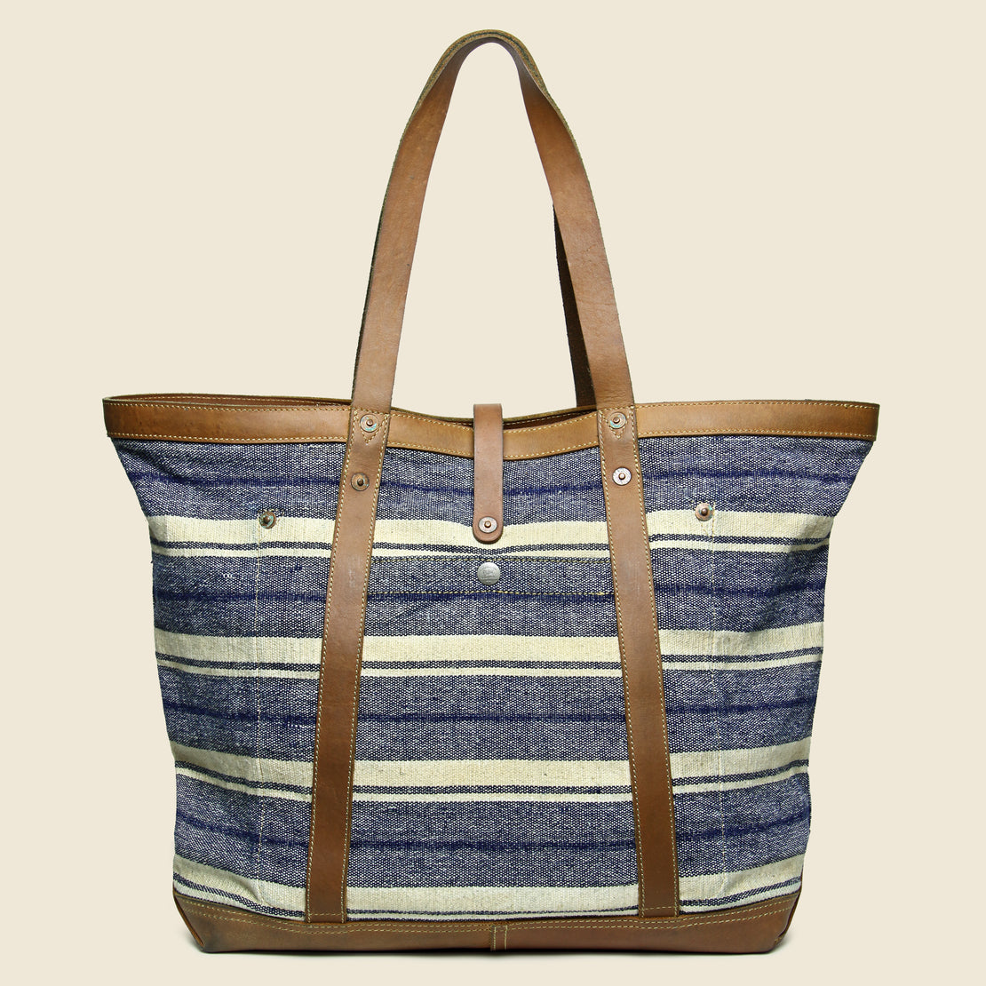 Murphy Canvas Tote - Indigo/Tan