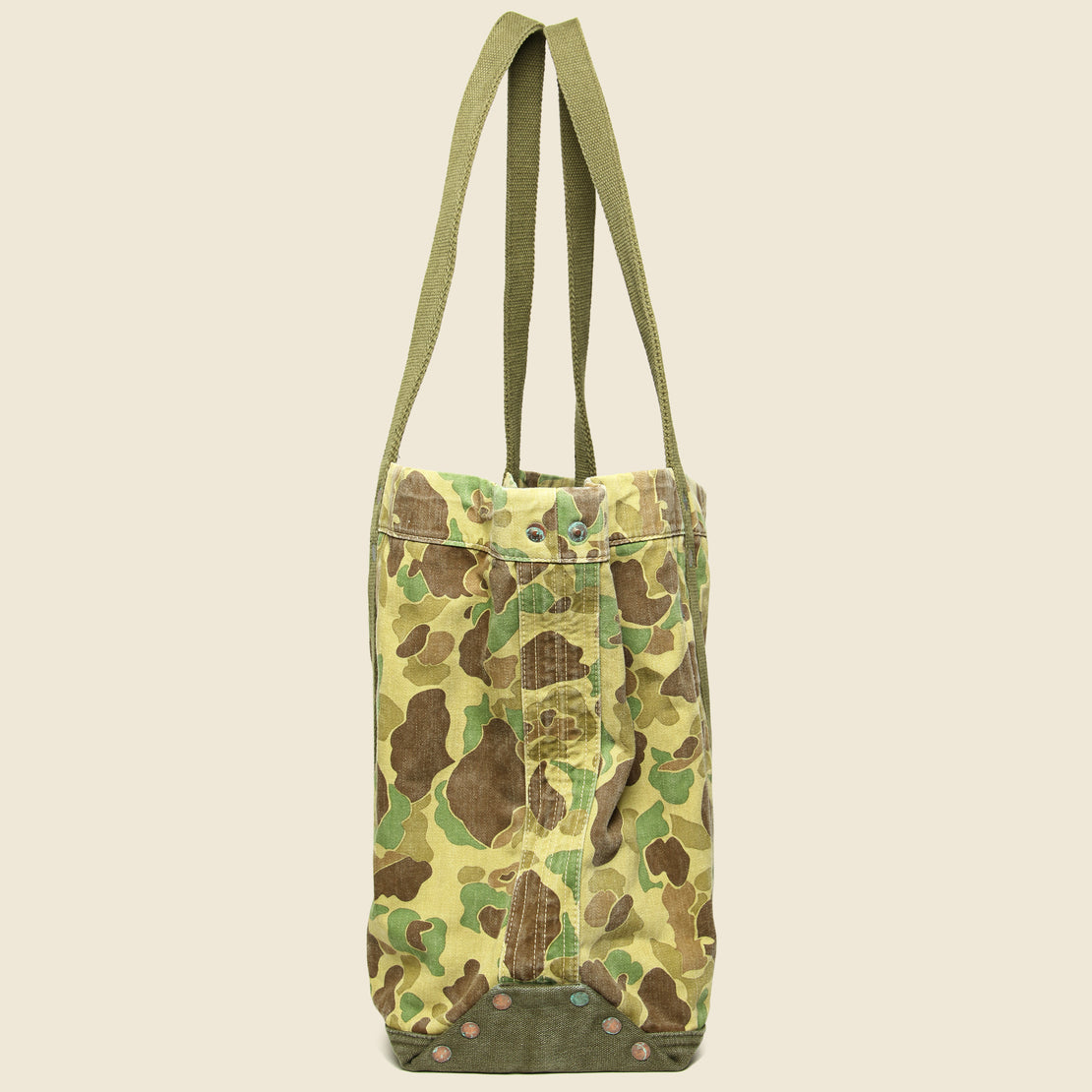 Camo Twill Tote - Olive Frog Skin