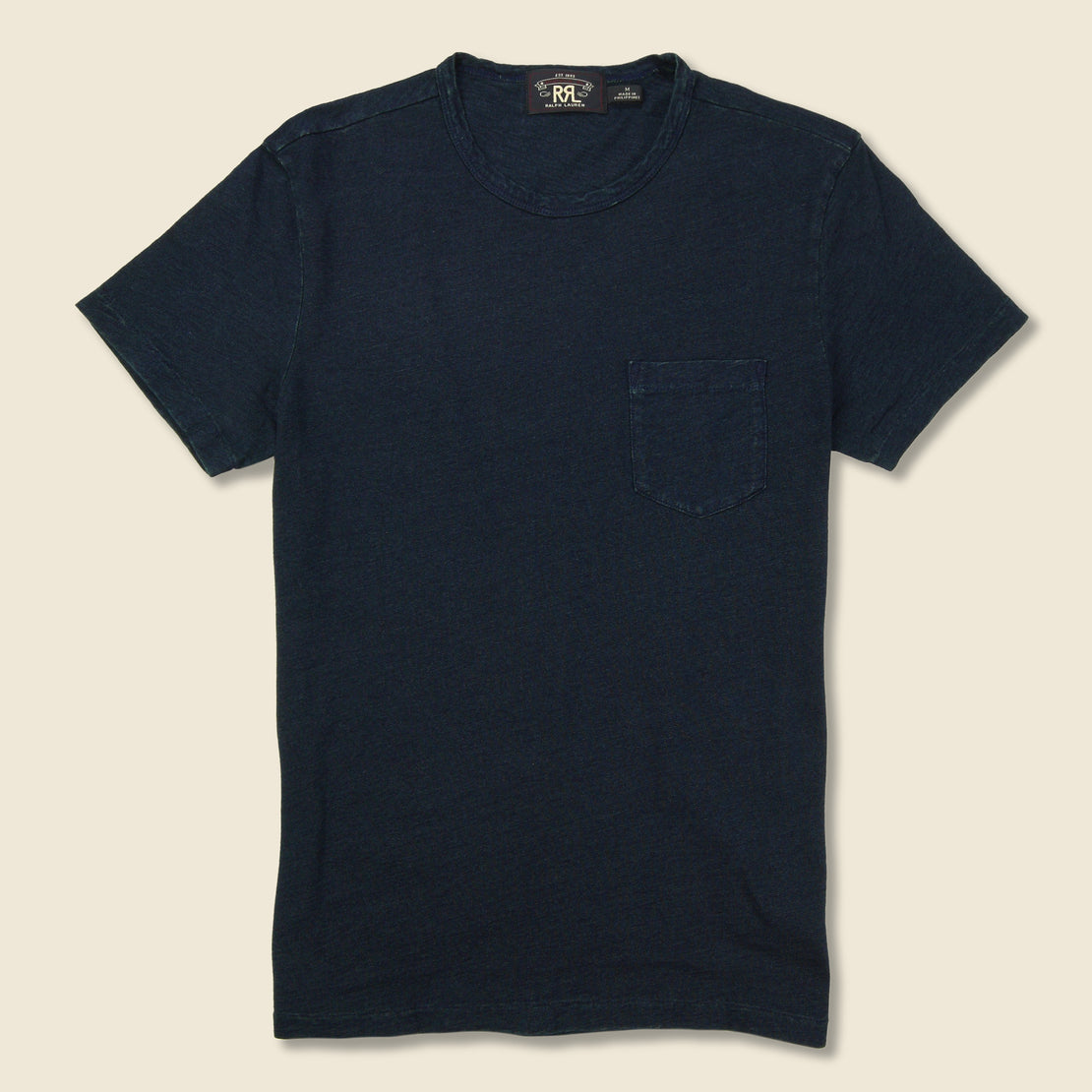 RRL Rinsed Pocket Tee - Indigo