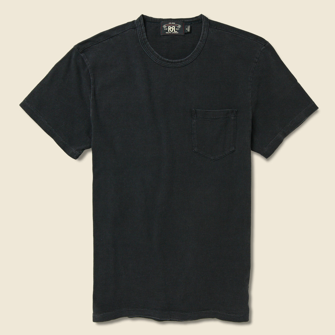 RRL Slub Pocket Tee - Black