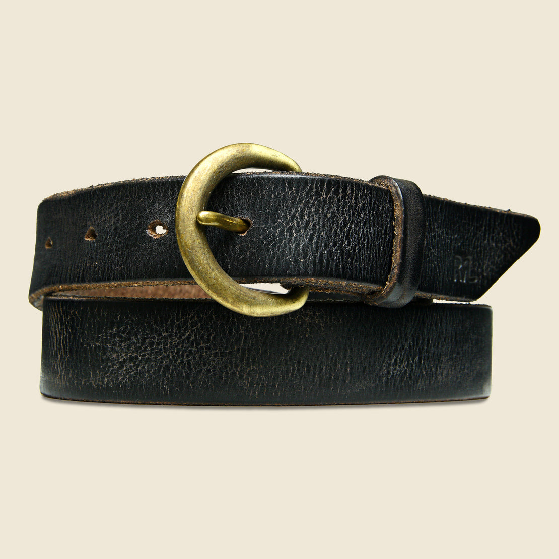 RRL Terrance Belt - Brown