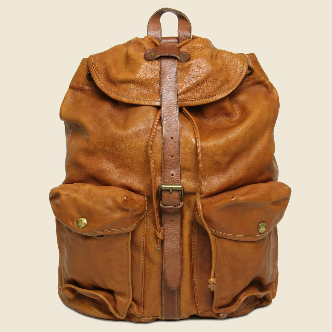 RRL Riley Leather Rucksack - Tan