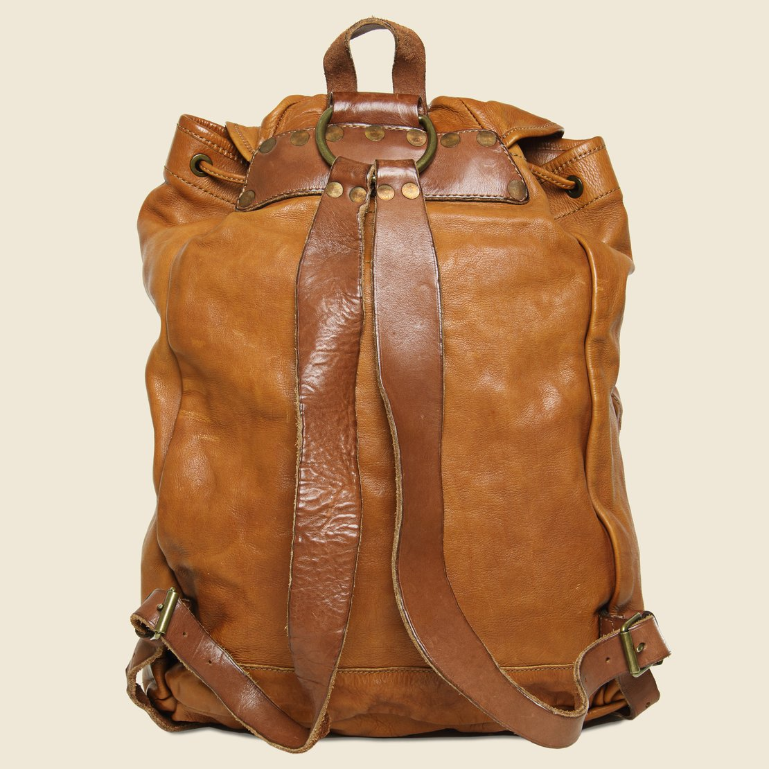 Riley Leather Rucksack - Tan