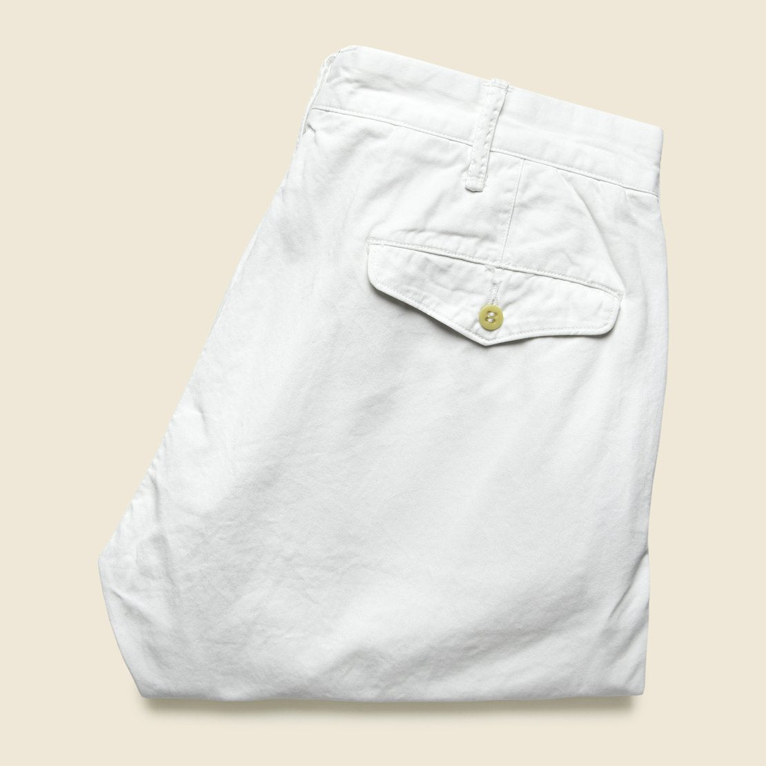 RRL Twill Slim Chino - White