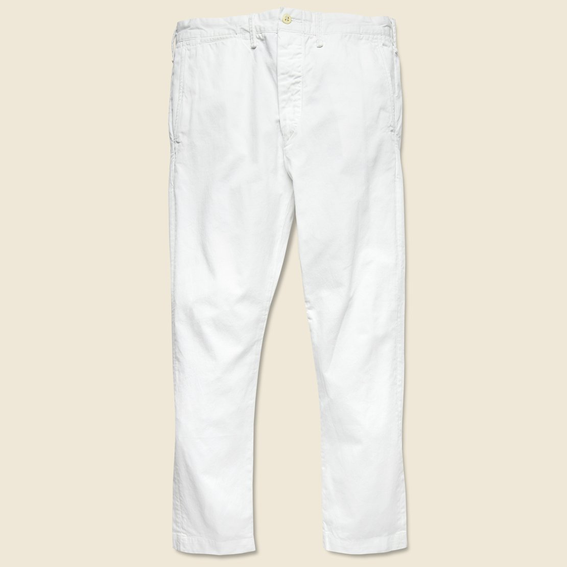 Twill Slim Chino - White
