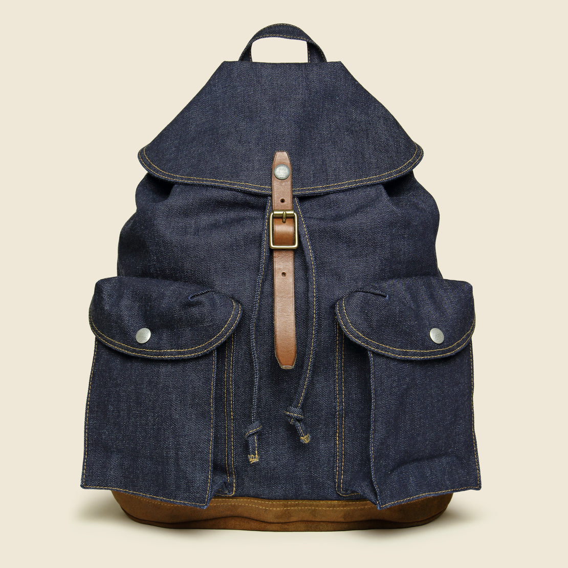 RRL Riley Denim Rucksack - Indigo