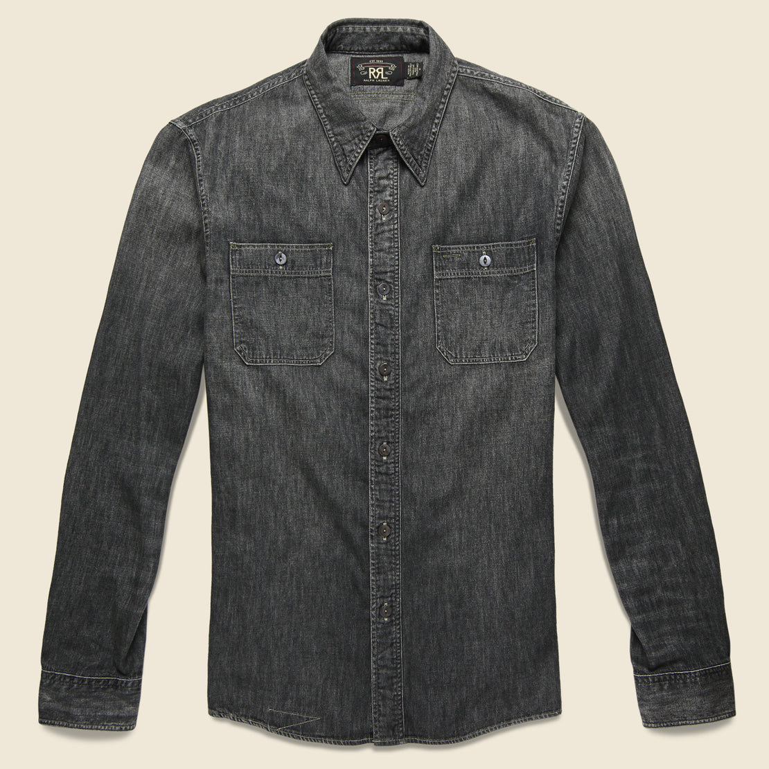 RRL Harvest Denim Workshirt - Black