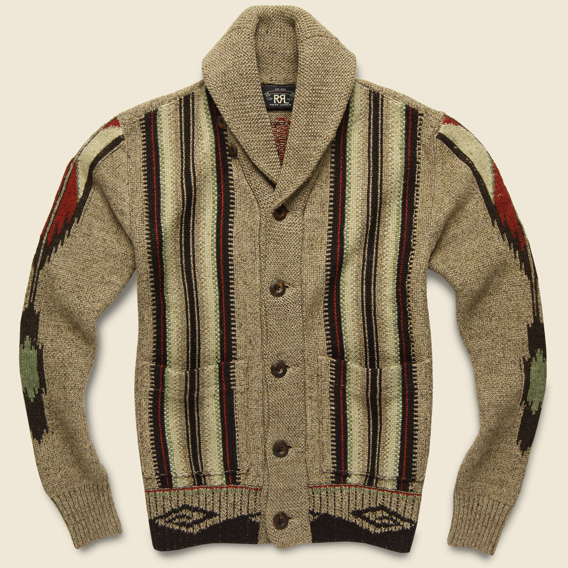 RRL Chimayo Shawl Cardigan - Earth