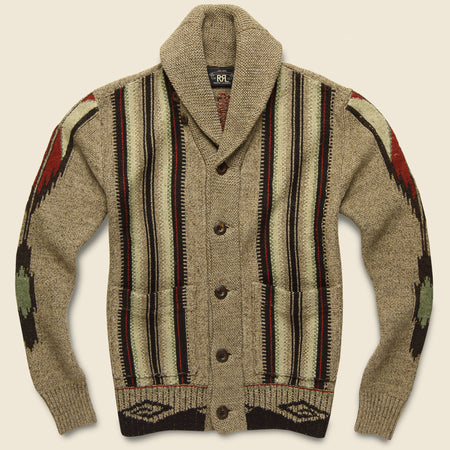 Chimayo Shawl Cardigan - Earth