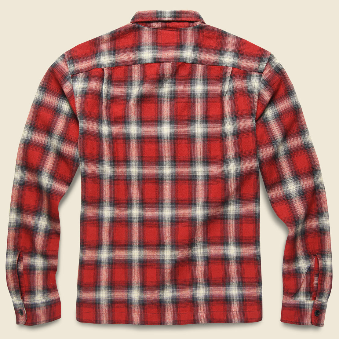 Monterey Ombre Plaid Flannel - Red/Black