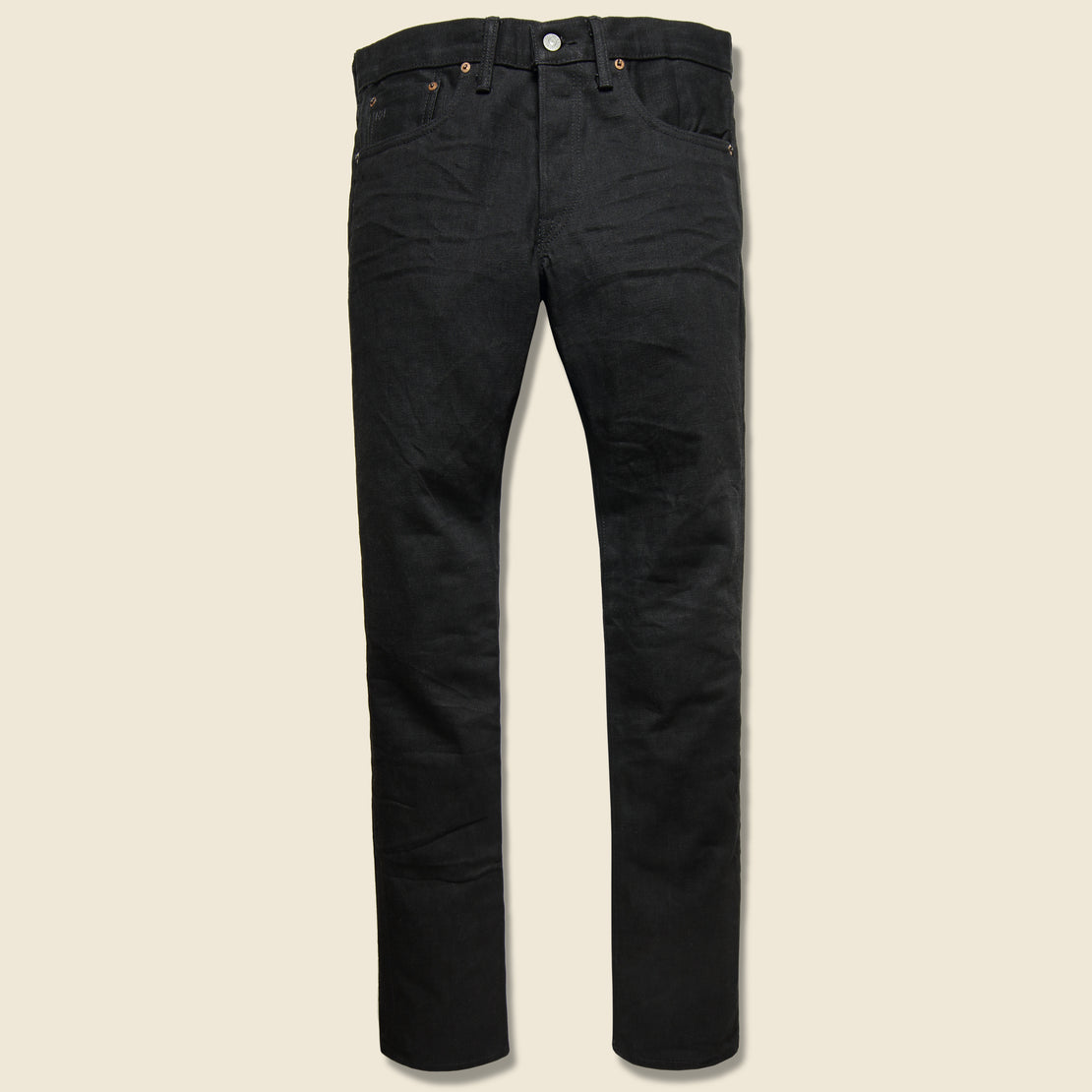 RRL Slim Fit Jean - Black on Black