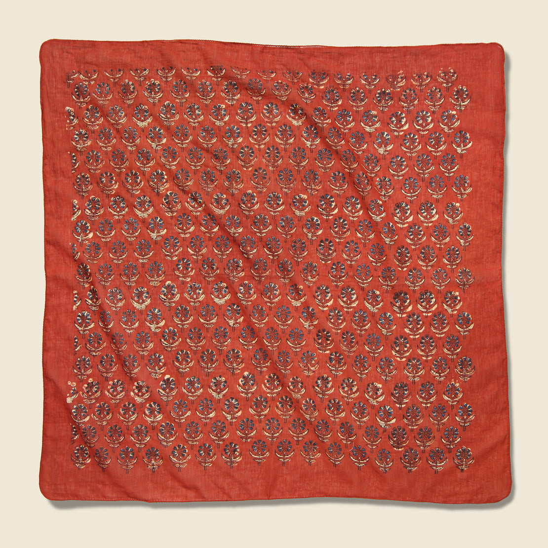 Red Road Chicory Flowers Bandana - Red
