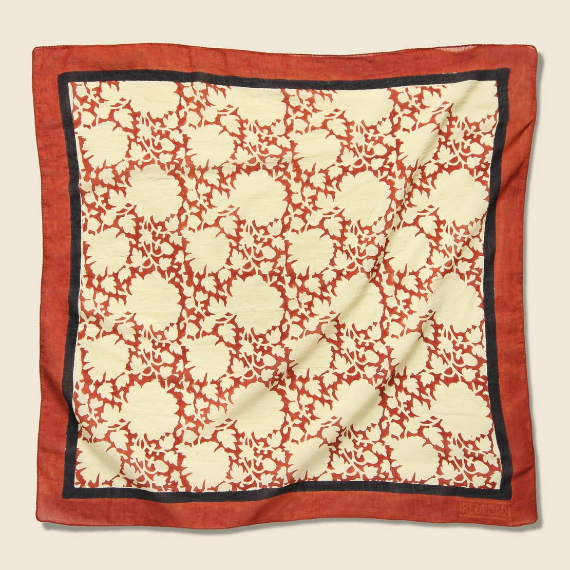 Red Road Safflower Madder Bandana - Red/Black Iron