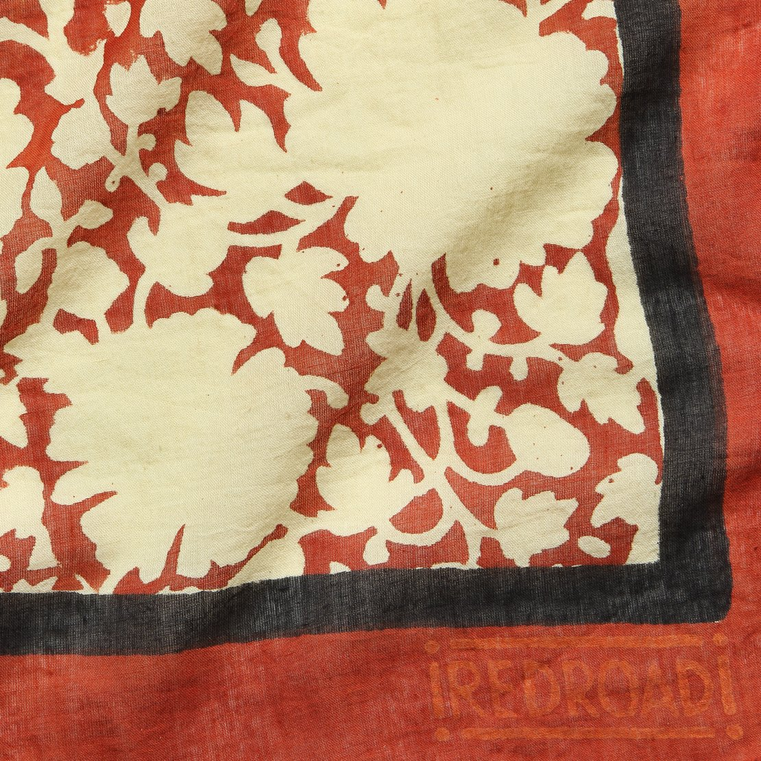 Safflower Madder Bandana - Red/Black Iron