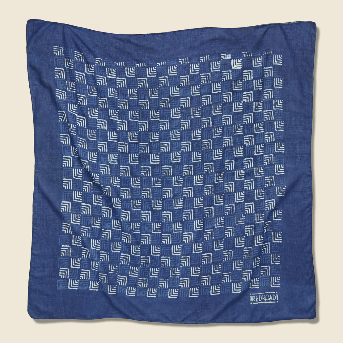 Red Road Double Arrowhead Bandana - Indigo/White