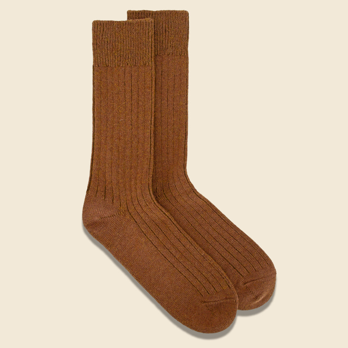 Cotton Wool Rib Sock - Olive Drab