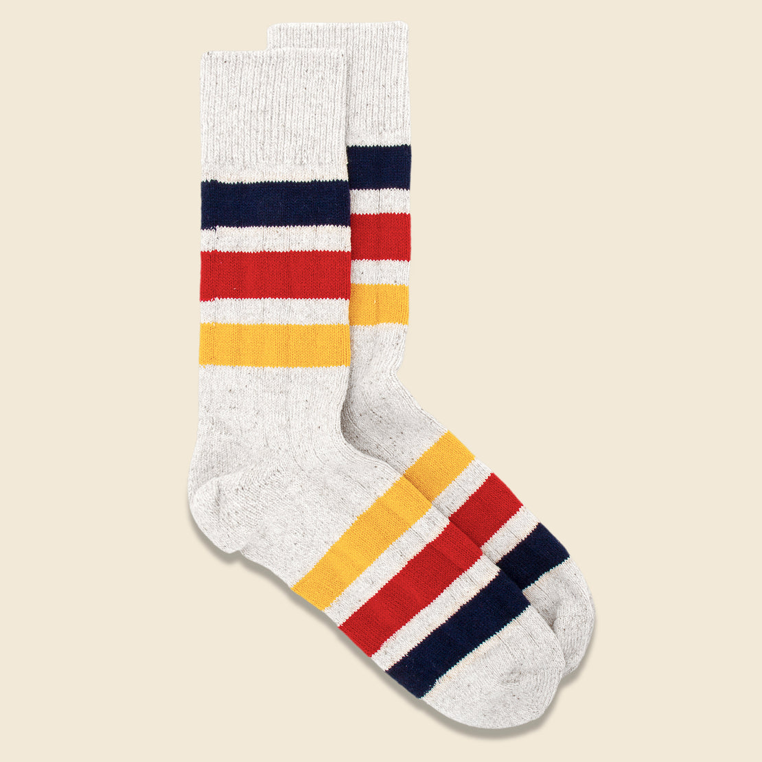Park Stripe Sock - Ivory