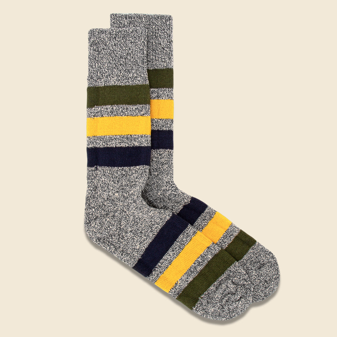 Park Stripe Sock - Dark Grey
