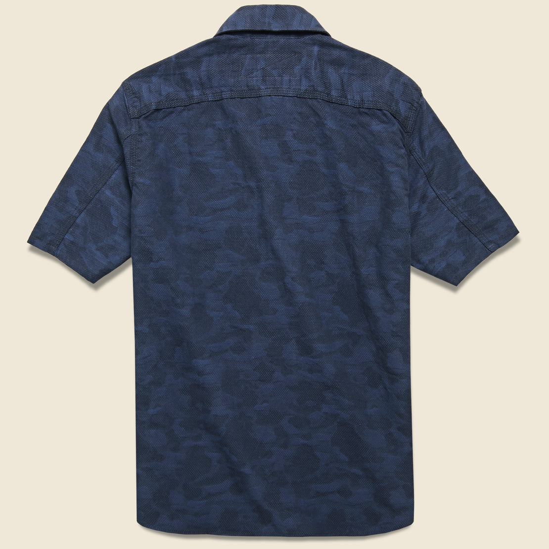 Dobby Camo Workshirt - Blue