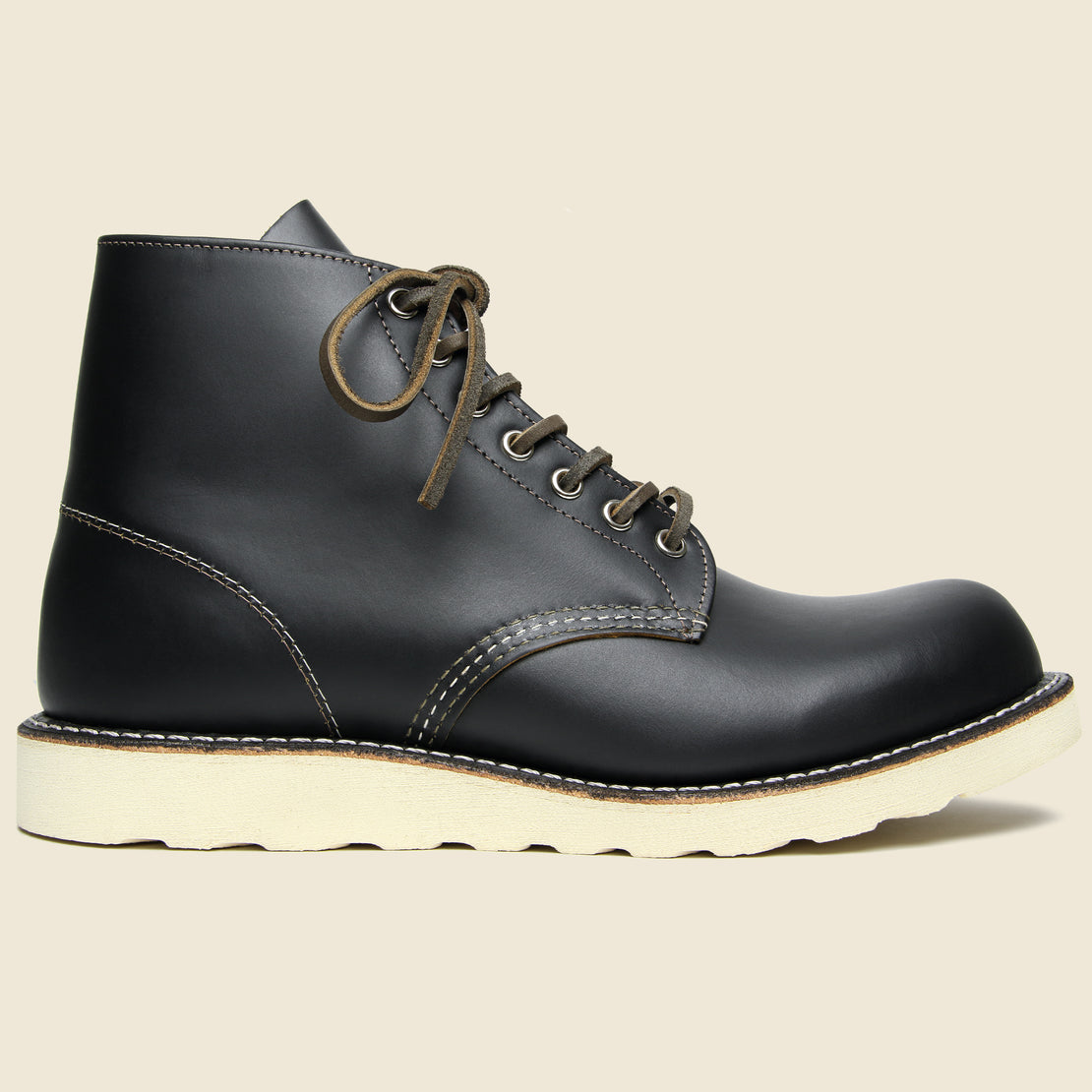 "Red Wing 6"" Round Toe No. 9870 - Black Klondike"