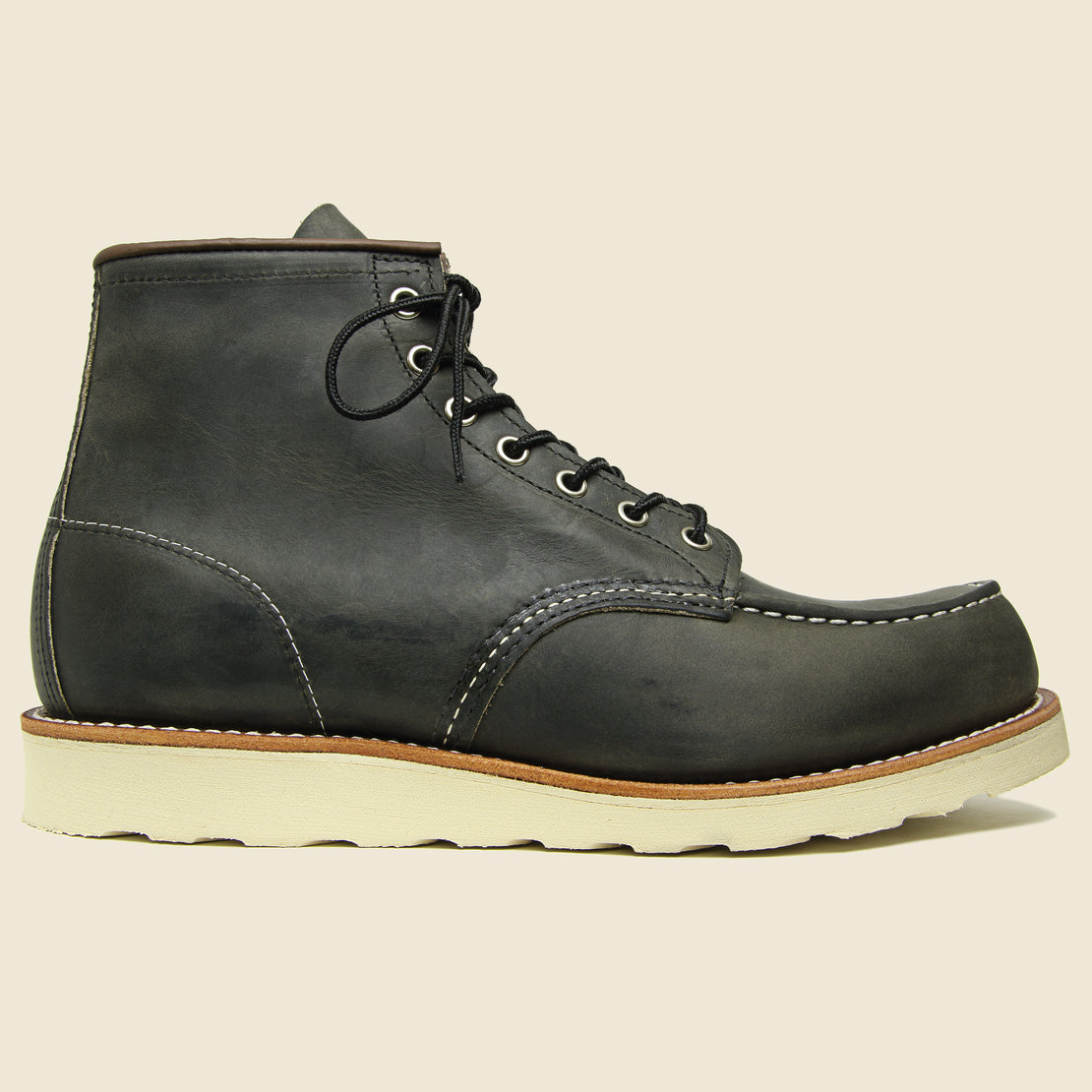"Red Wing 6"" Moc Toe - Charcoal Rough & Tough"