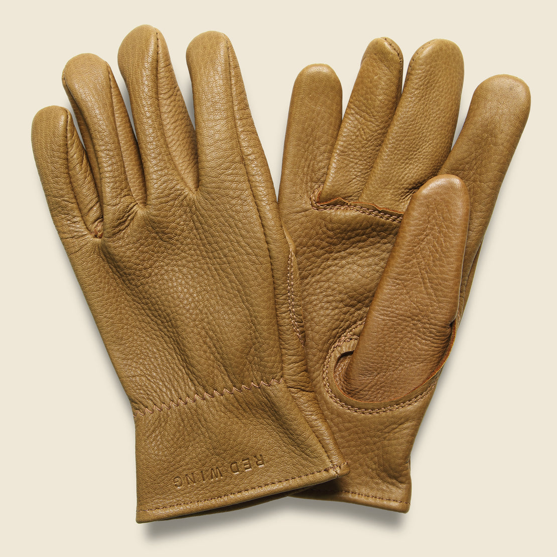 Red Wing Buckskin Unlined Gloves - Nutmeg