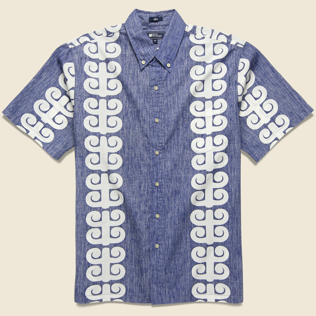 Reyn Spooner Stack A Tapa Shirt - Twilight Blue