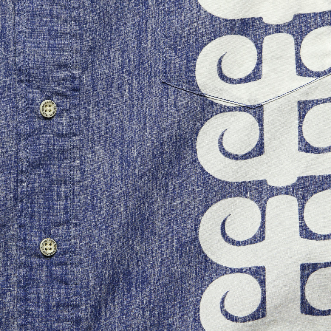 Stack A Tapa Shirt - Twilight Blue