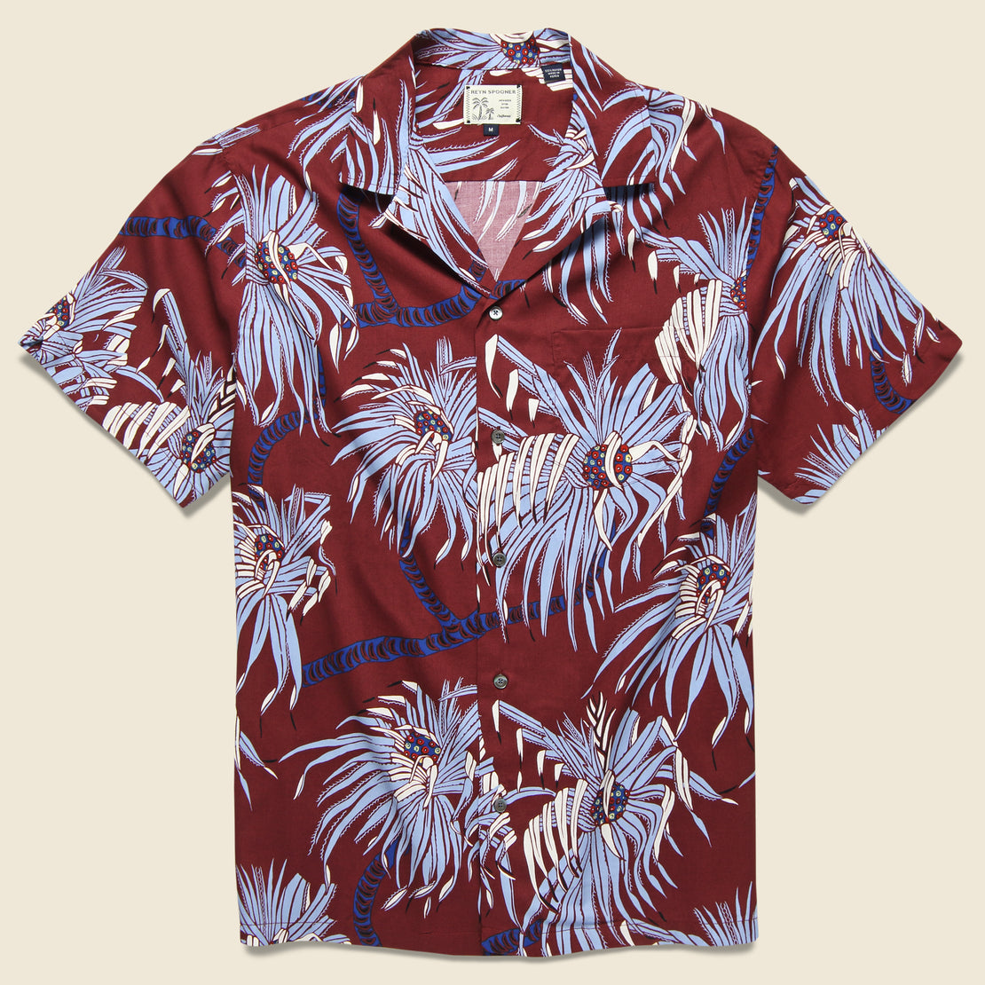 Reyn Spooner Pololu Camp Shirt - Oxblood Red