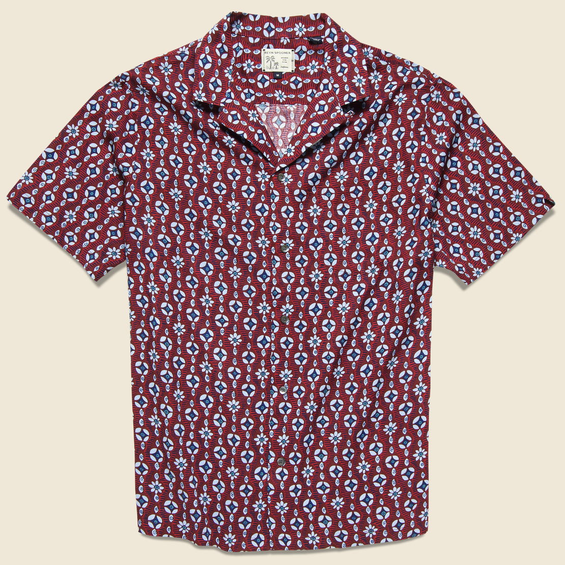 Reyn Spooner Eye See U Camp Shirt - Oxblood Red