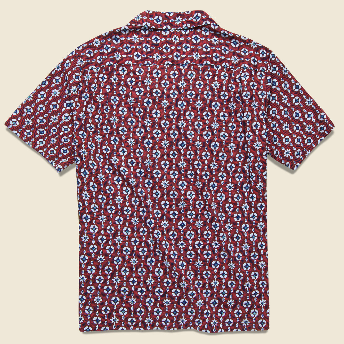 Eye See U Camp Shirt - Oxblood Red
