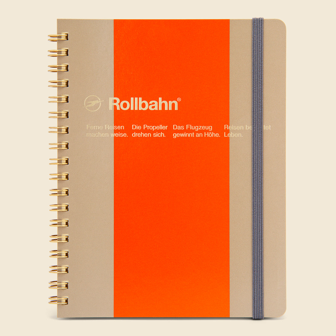Paper Goods Rollbahn Spiral Notebook - Beige/Orange