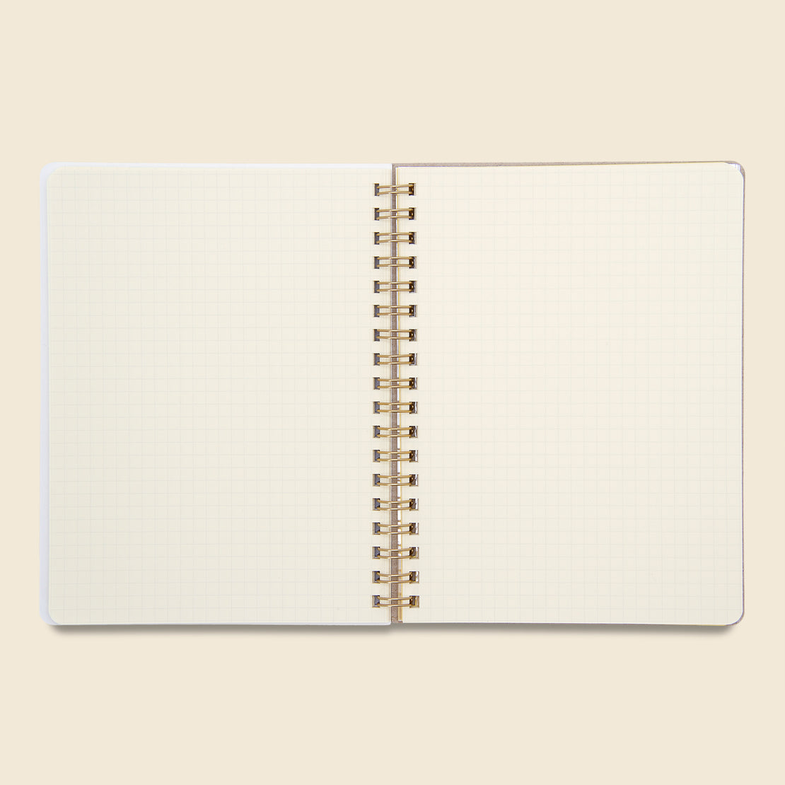 Rollbahn Spiral Notebook - Beige/Orange