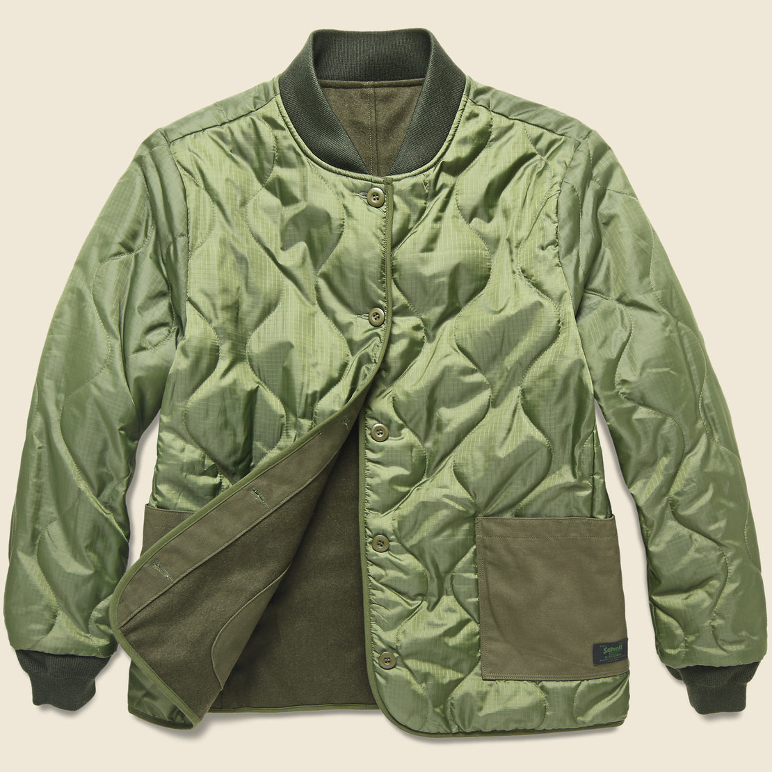 Schott Flight Jacket Liner - Olive
