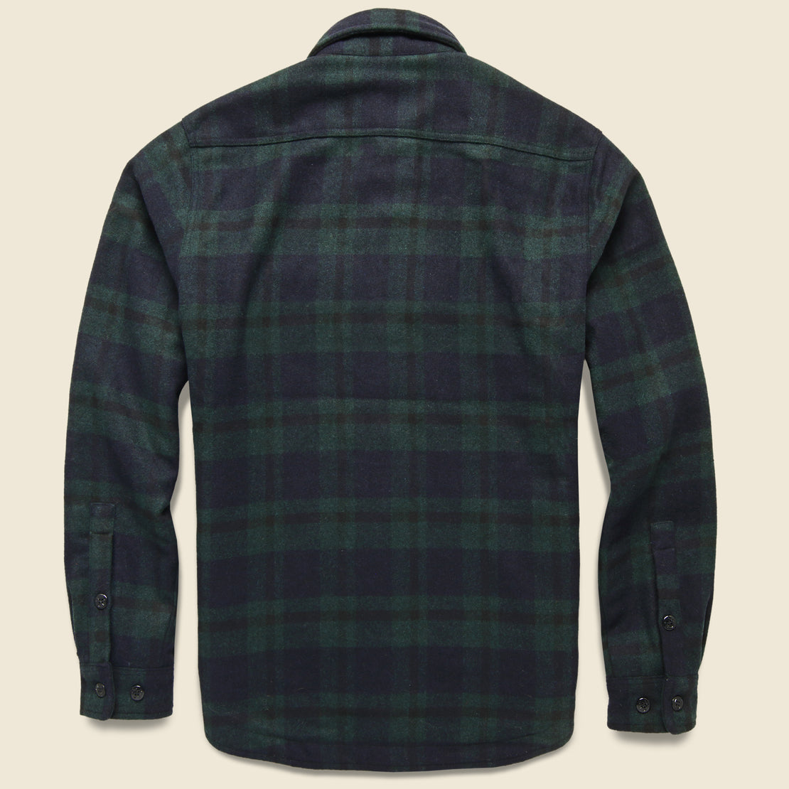 Quilt Lined CPO Shirt Jacket - Hunter Green Plaid