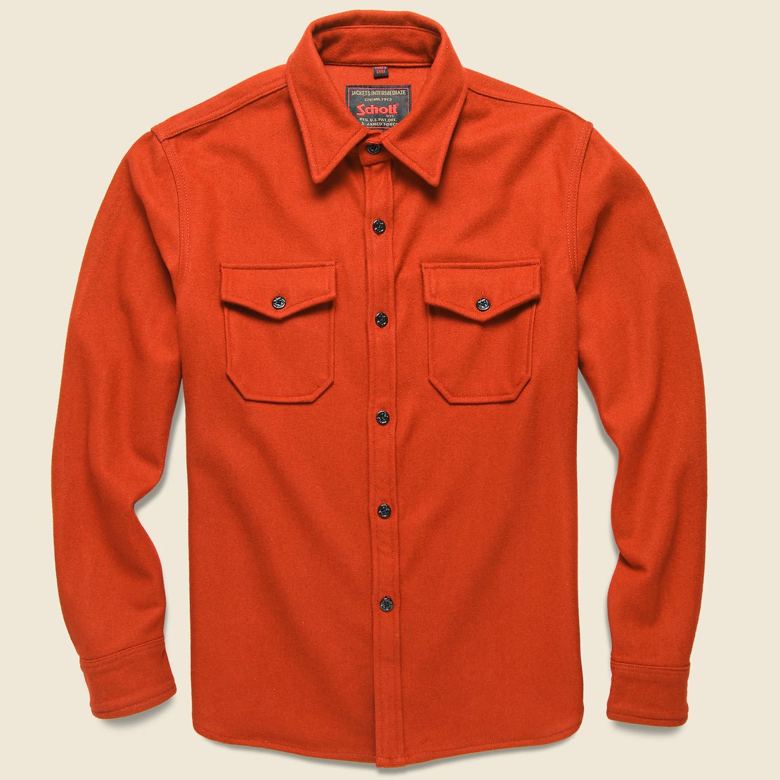 Schott CPO Wool Shirt - Orange
